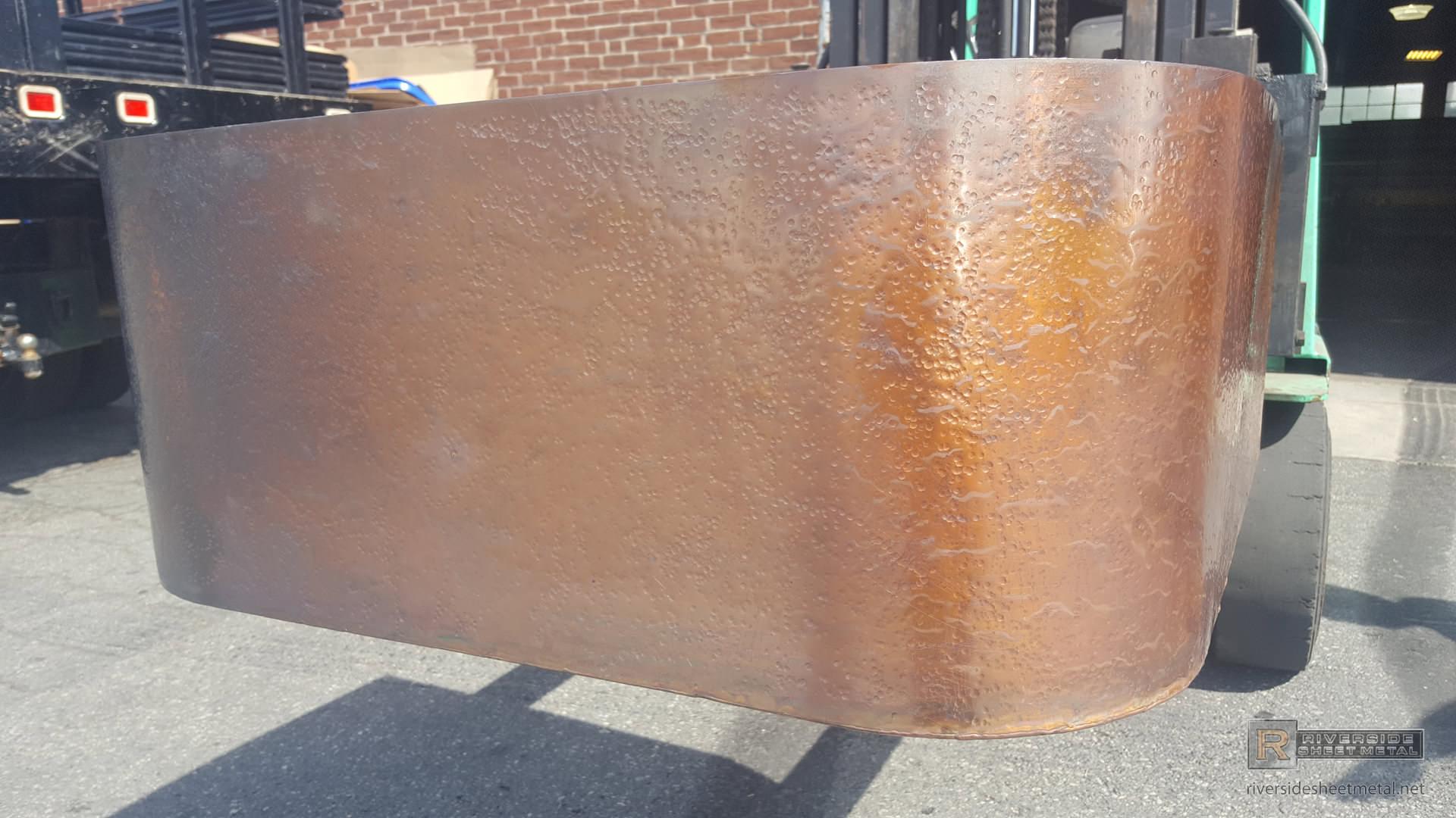 Hand Hammered Copper Planter Burnished Custom