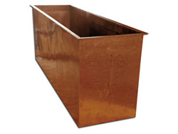 Planter made with hand hammered copper