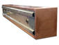 Pre-weathered copper planter with stainless steel liner - leg detail view 1