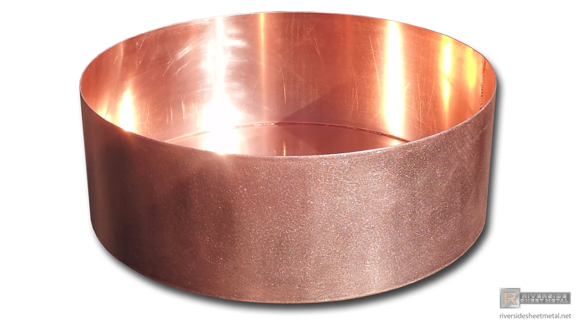 Round Copper Planter Custom Fabricated Riverside Sheet Metal