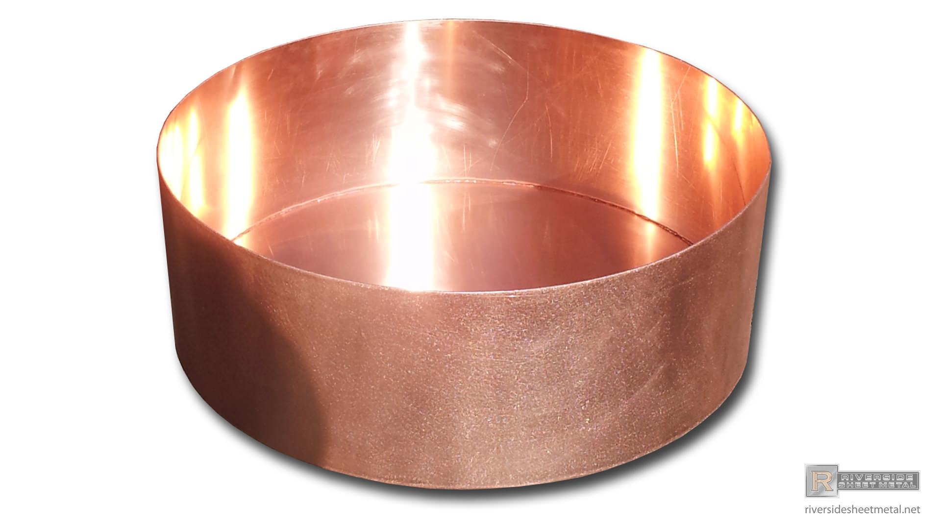 Round Copper Planter Custom Fabricated Riverside Sheet Metal