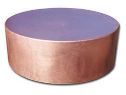 Round copper planter custom fabricated
