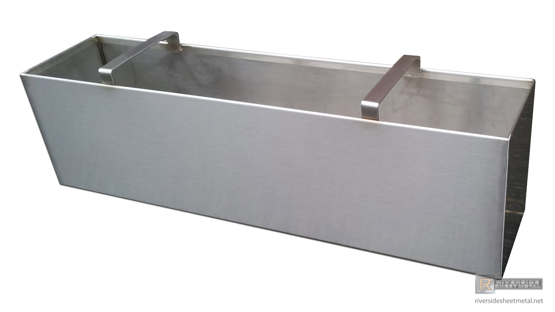Stainless Steel Number 4 Finish Planter With Handles Riverside