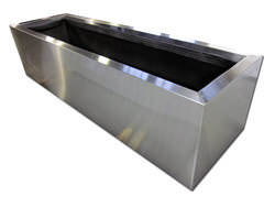 Custom stainless steel planter