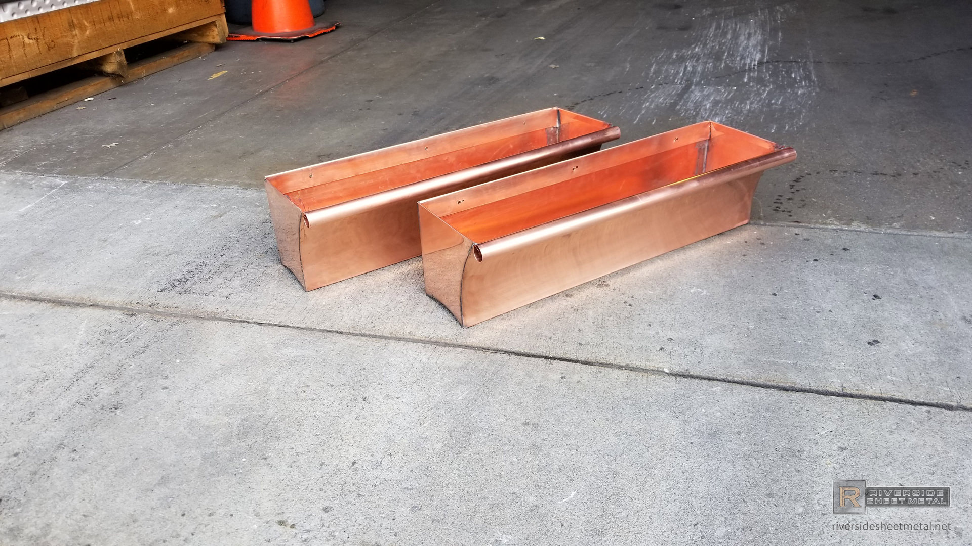 Window Flower Boxes Custom Made To Order In Copper With A Bead