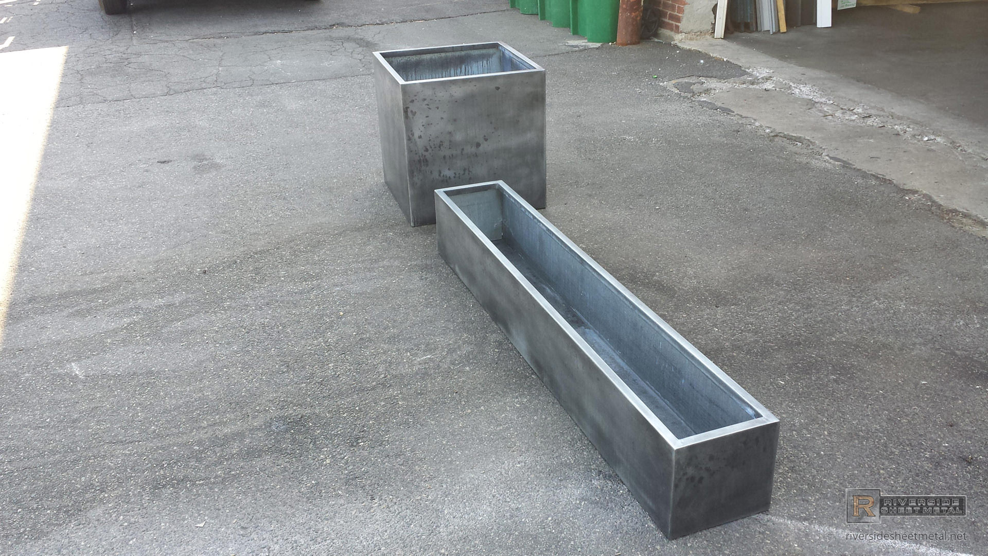 Custom Zinc Planters Boston Massachusetts