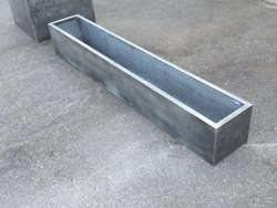 Custom zinc planters
