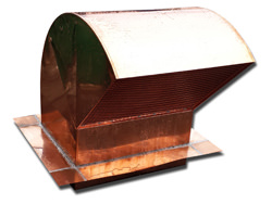 Copper gooseneck roof vent