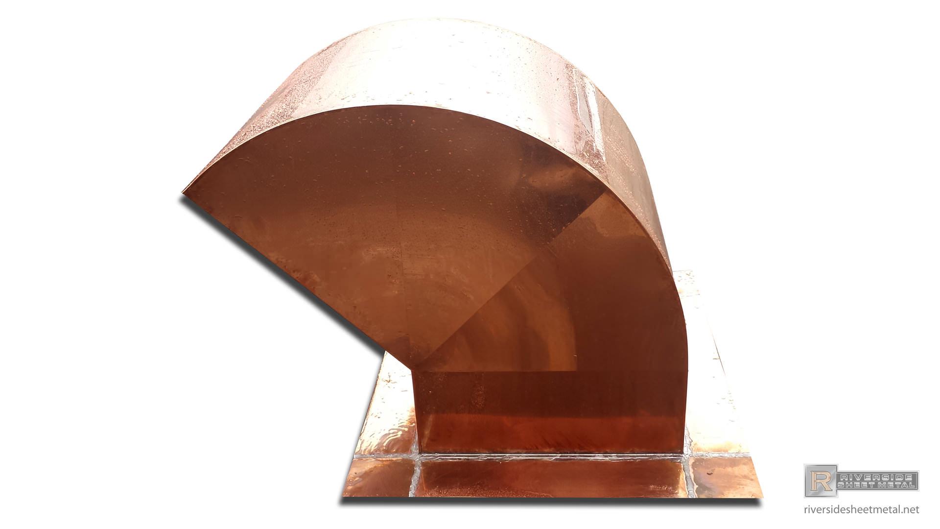 Copper Gooseneck Roof Vent Custom Riverside Ma