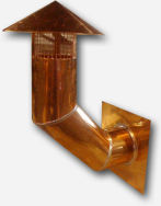 Copper pipe vent with custom angle