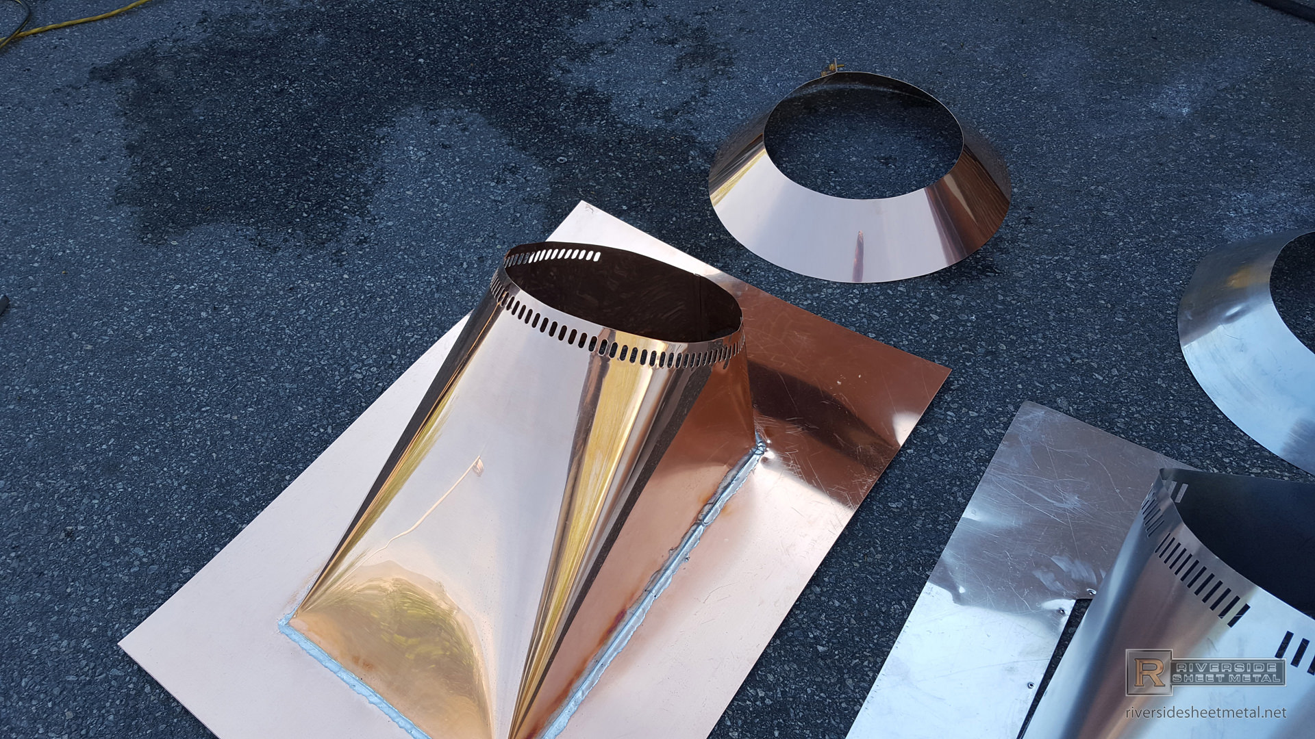 Custom Copper Roof Vent Remade Copied From Aluminum Part