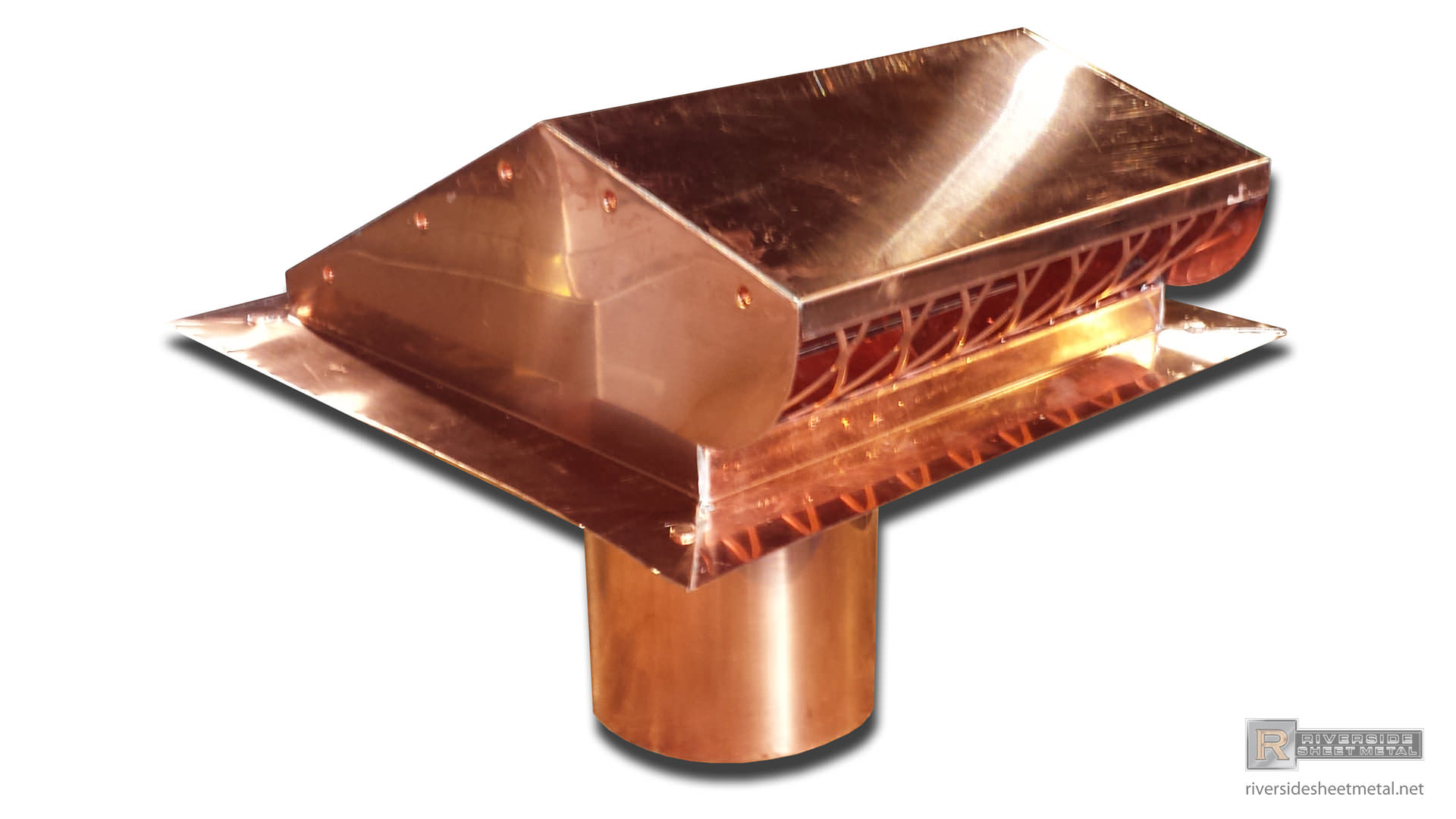 Custom Static Copper Roof Vent Riverside Sheet Metal