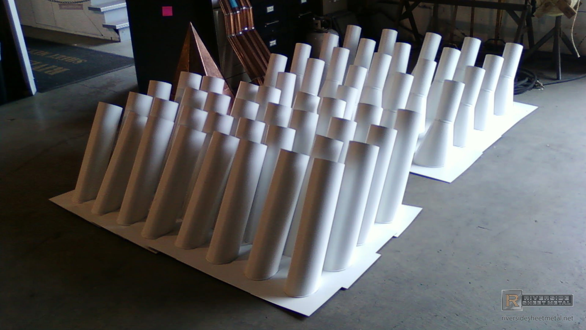 Custom White Aluminum Stink Pipes Stack Vents