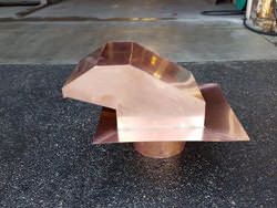 20 oz copper roof vent with flapper