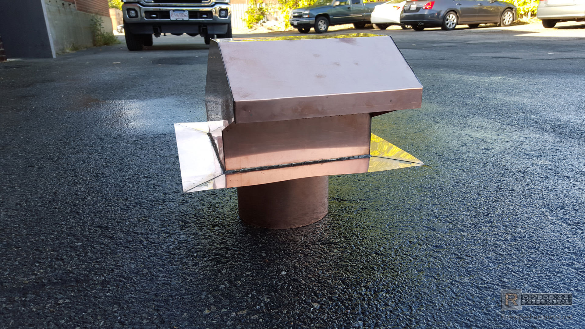 20 Oz Copper Roof Vent With Flapper Customn Made