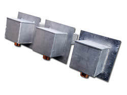 Lead coated copper scupper boxes