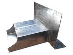 Custom lead coated copper scupper box