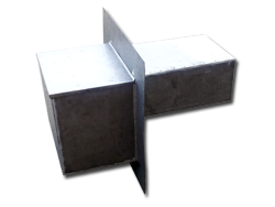Lead coated copper scupper box