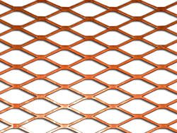 Expanded copper sheet