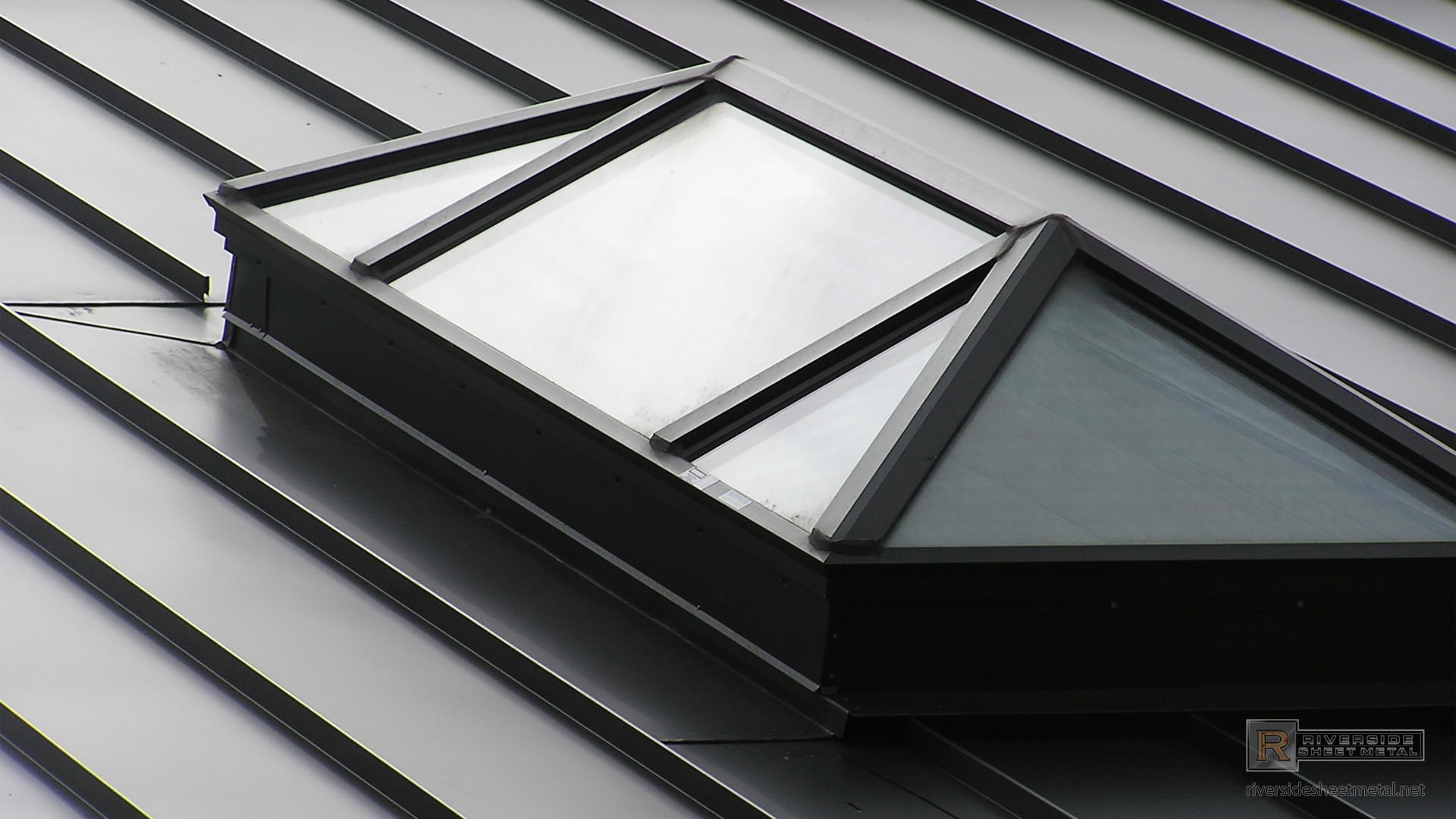 Bronze Aluminum Skylight Riverside Sheet Metal Medford Ma