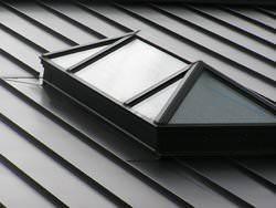 Bronze aluminum skylight