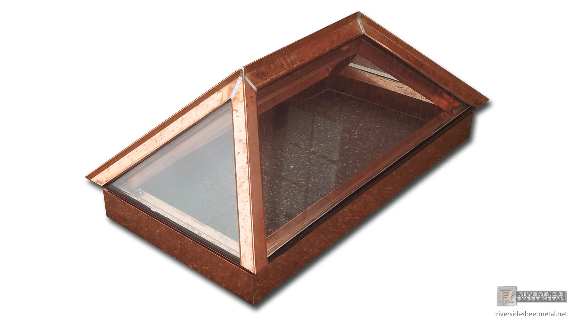 Custom made copper skylight Riverside