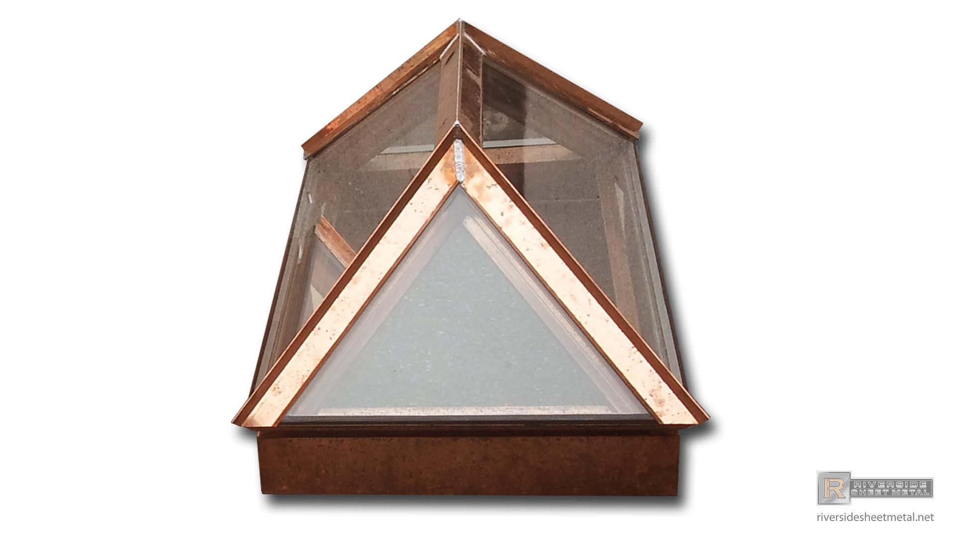 Custom Fabricated 20oz Copper Skylights Riverside Ma