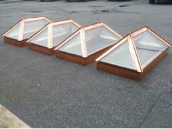 Custom fabricated 20oz copper skylights