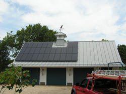 Bird weathervane on aluminum cupola - view 2