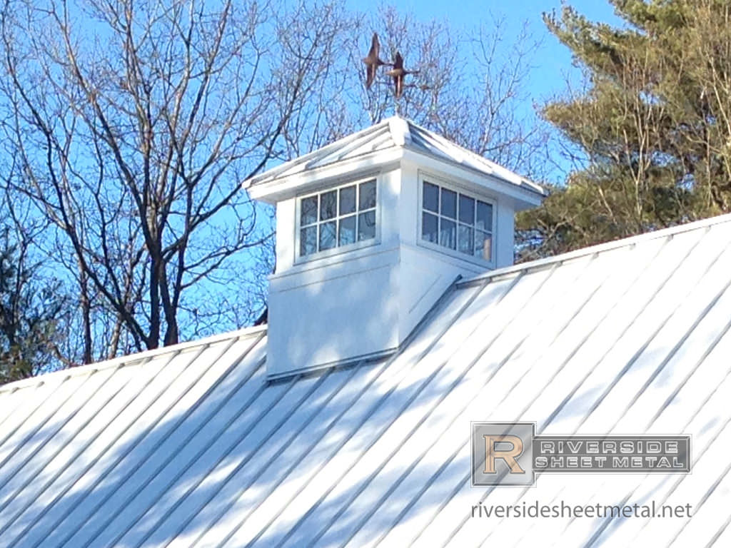 Weathervane With Birds On A Galvalume Cupola New England