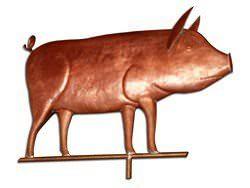 Copper piglet weathervane