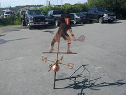 Copper squash player weathervane custom made - view 4