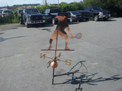 Copper squash player weathervane custom made - view 5