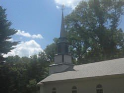 Copper squash player weathervane steeple installation - view 5