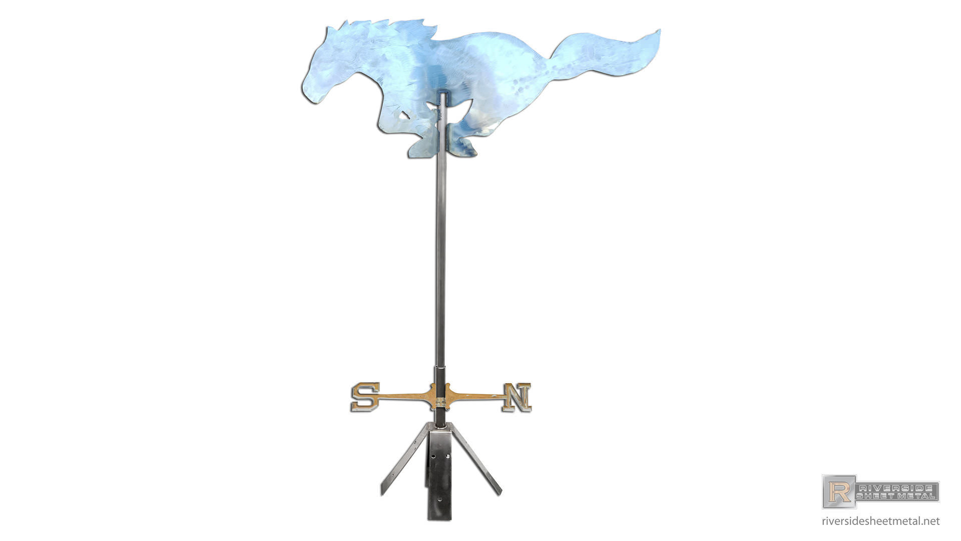 Mustang Horse Weathervane In Stainless Steel Powder Coated
